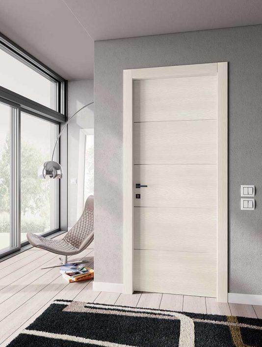 Esempio di porta da interno bianca, di design